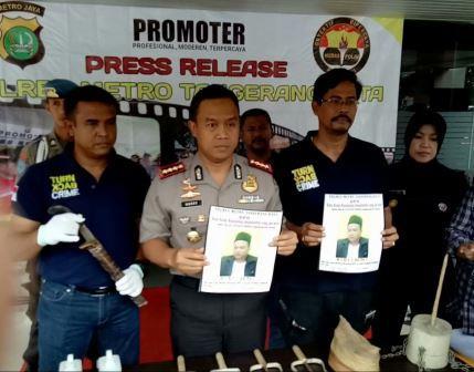 Polres Metro Kota Tangerang Sebar Foto Guru Ilmu Kebal