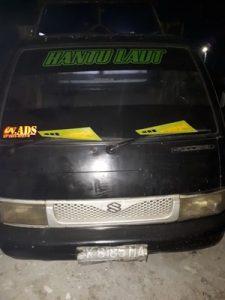 Foto: Mobil pick up Suzuki Carry merupakan salah satu barang bukti yang diamankan petugas.