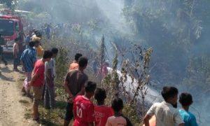 Lahan di Desa Leubu Masjid Terbakar