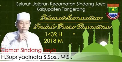 Ucapan Selamat Kecamatan Sindang Jaya