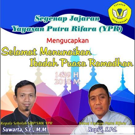 Selamat Melaksanakan Puasa Ramadhan YPR