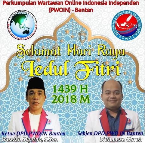 Selamat Idul Fitri DPD PWO IN