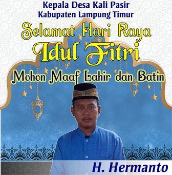Selamat Idul Fitri Kepala Desa Kali Pasir