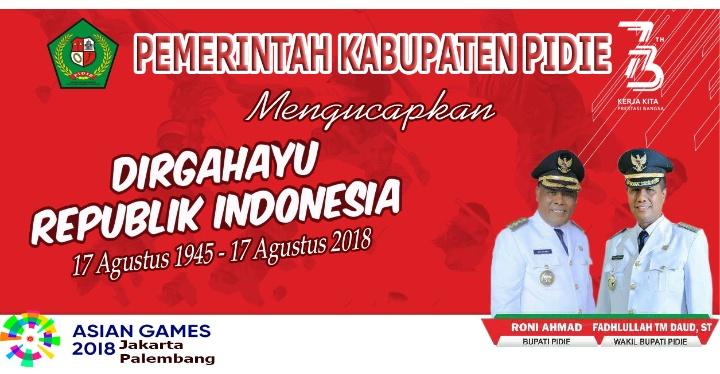 Iklan HUT RI Aceh Kabupten Pidie