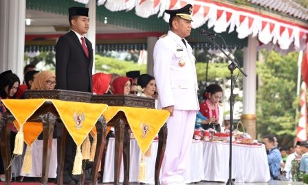 Pj Gubsu Pimpin Upacara HUT RI ke-73