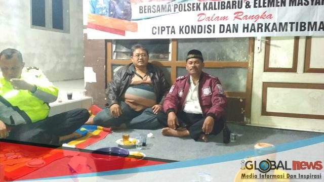 Photo, Kapolsek Kalibaru Akp Abdul Jabbar bersama Asper BKPH Kalibaru serta.