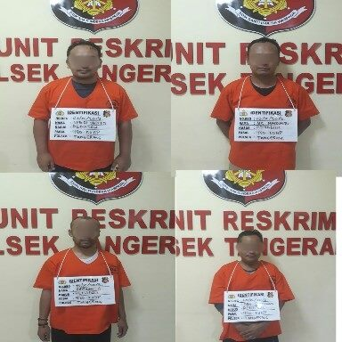 Foto: Empat orang penadah jaringan pencurian.