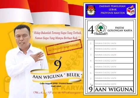 Iklan Caleg Banten Dapil Lebak