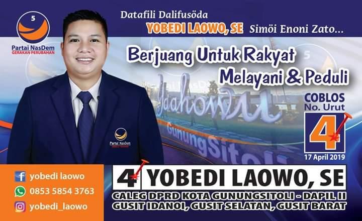 Iklan caleg Yobed Laowo