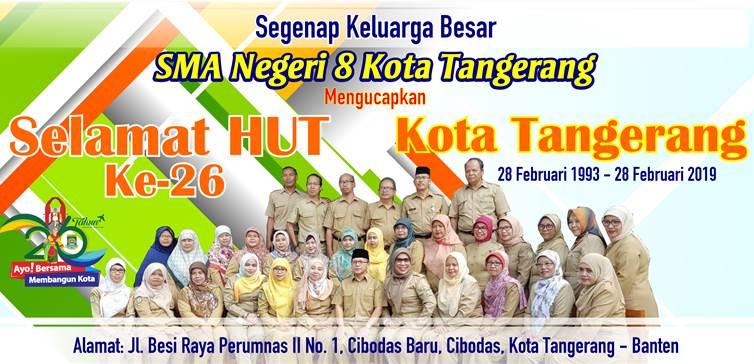 Iklan HUT Kota Tangerang ke-26 SMAN 8