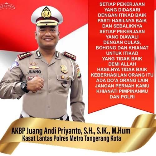 Iklan Kasat Lantas Polres Metro Kota Tangerang