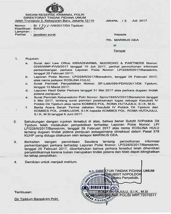 Tuduhan Penipuan Terhadap Anggota Komisi I Dpr Ri Marinus Gea