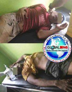 Foto Kedua Tersangka Pencurian Brondolan  Buah Sawit