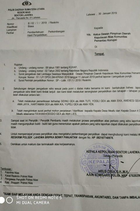 Diduga Lakukan Pungli Oknum Kades Meafu Dilaporkan Polisi Iglobalnews