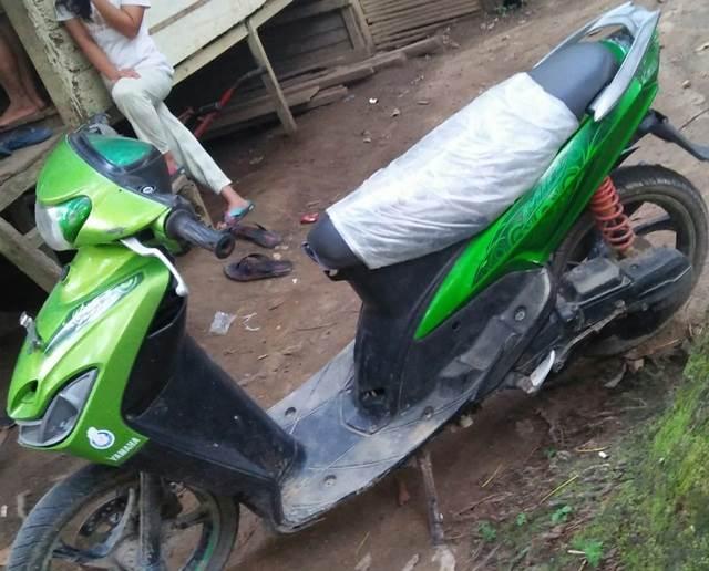 Foto: Sepeda motor milik NM yang diduga terlibat laka lantas.