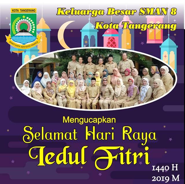 Iklan Ucapan Idul Fitri SMAN 8 Kota Tangerang