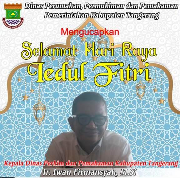 Iklan Ucapan Idul Fitri Dinas Perkim dan Pemakaman Kab Tangerang