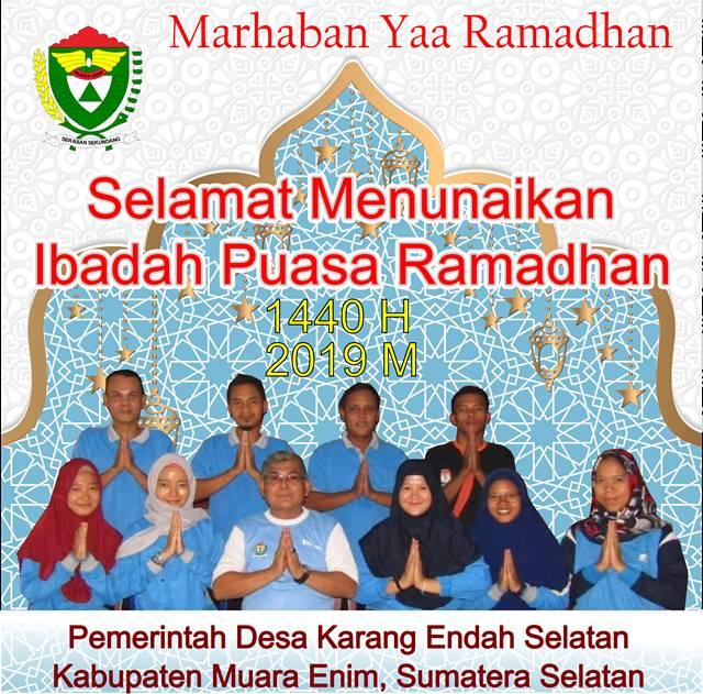 Iklan Ucapan Ramadhan Pemdes Karang Endah Selatan