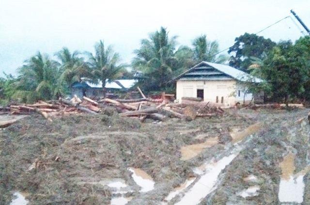 Salah satu dusun terkena dampak banjir Bandang di desa Dampala kecamatan Bahodopi