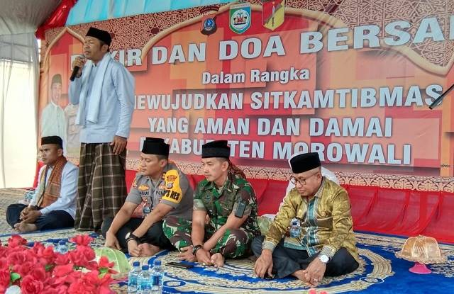 Wakil Bupati Morowali saat menyampaikan Tauziyah