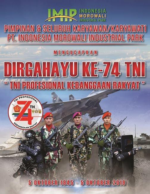 Iklan HUT TNI Morowali