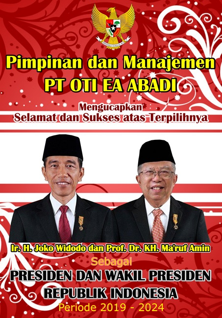 Iklan Ucapan Pelantikan Presiden RI PT OTI EA Abadi