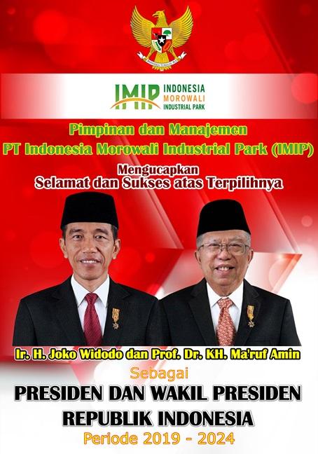 Iklan Ucapan Pelantikan Presiden RI PT IMIP