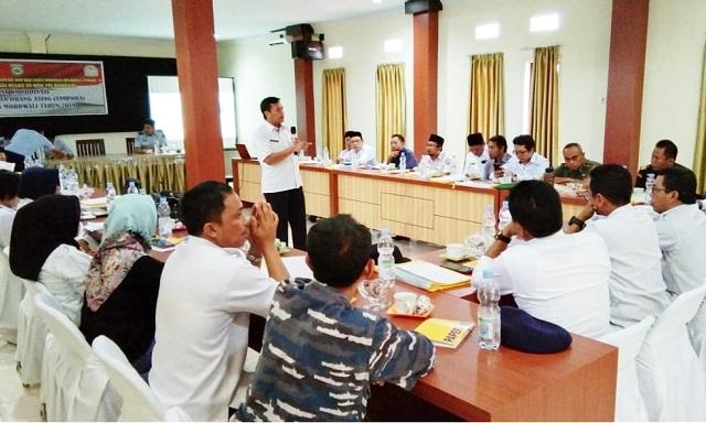 Rakor penguatan tim pora yang digelar oleh imigrasi kelas III non TPI Banggai di hotel metro ,rabu 4/12/2019