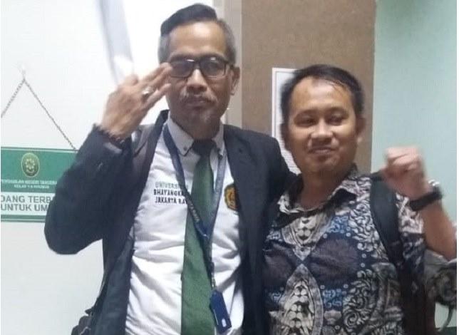 Dwi Seno ahli hukum acara pidana yg mantan Jaksa, mengatakan terdakwa dapat dijerat TPPU.