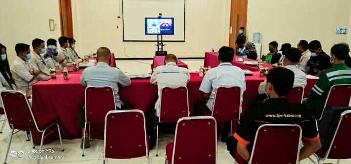 Ket poto: 1 Pengundian Daring E- Banking Super Seru kawasan IMIP  2.Management PT IMIP sampaikan apresiasi kepada PT BRI